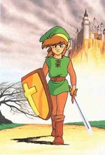 Official art - Link departs from North Castle