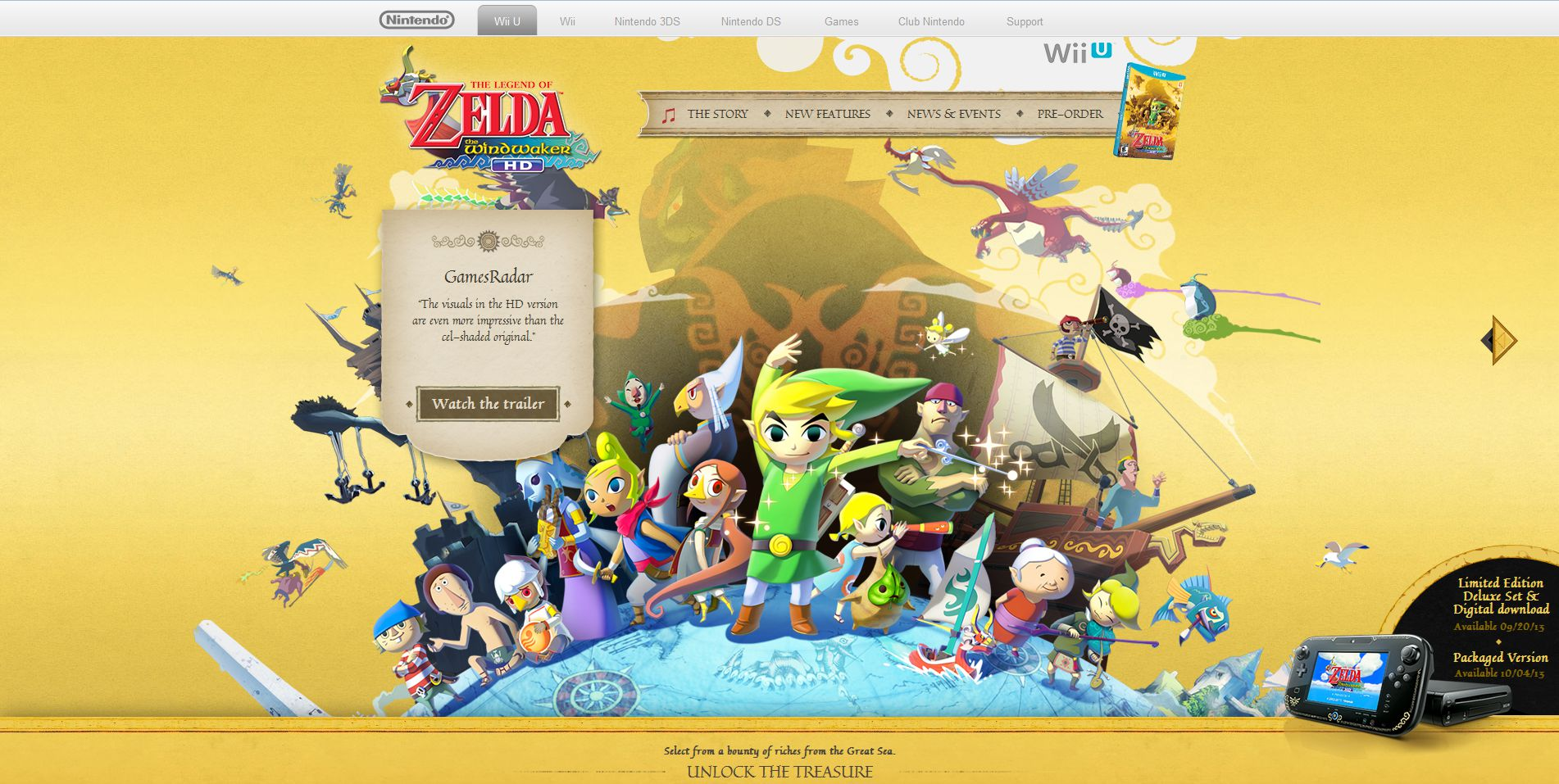 Site oficial de The Wind Waker HD