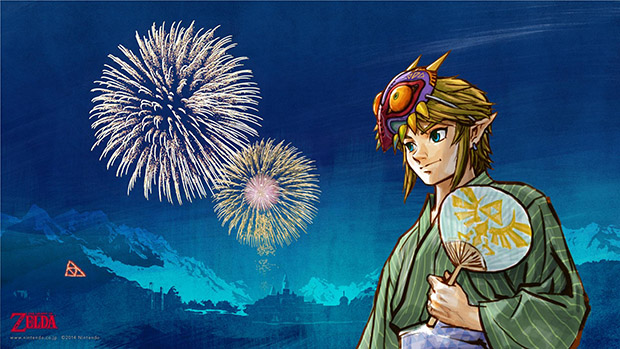 Wallpaper de Zelda homenageando o Festival Tanabata