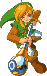Link whith the Rod of Seasons