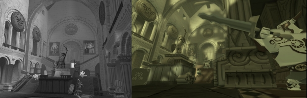 Comparativo entre o Hyrule Castle de The Wind Waker original e The Wind Waker HD