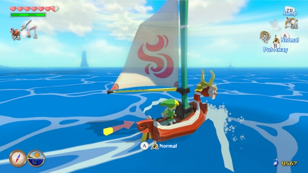 Navegando com a Swift Sail em The Wind Waker HD