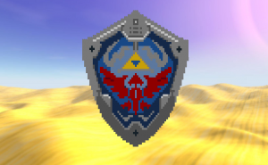 Hylian Shield pixelado