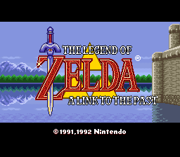 A Link to the Past (SNES) traduzido - tela de título