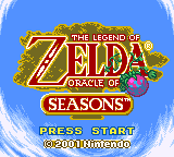 Oracle of Seasons traduzido - tela de título